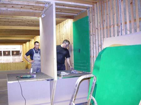 Renovering af skydebane 11/7 2007